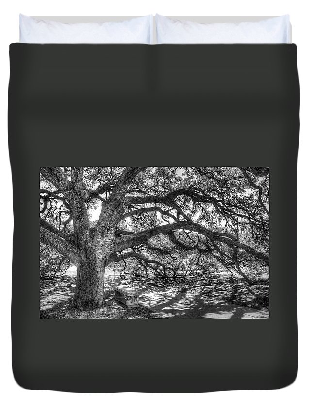 Tree Duvet Cover featuring the photograph The Century Oak by Scott Norris