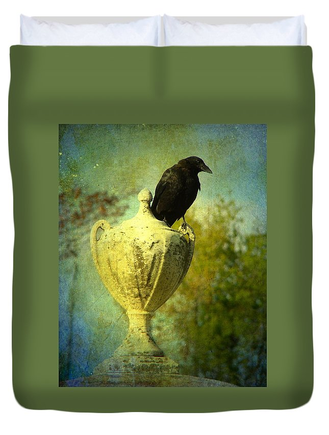 Crow Image Duvet Cover featuring the photograph The Champion by Gothicrow Images