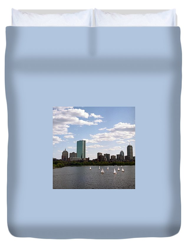 Boston Duvet Cover featuring the photograph The Charles by Carla P White