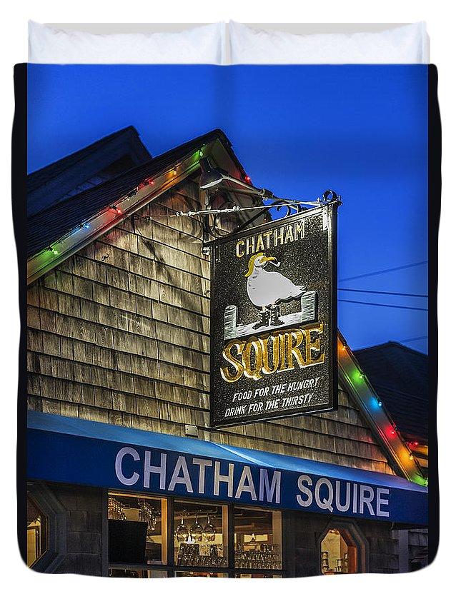 Business Duvet Cover featuring the photograph The Chatham Squire by John Greim