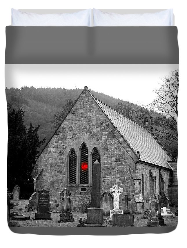 Church Duvet Cover featuring the photograph The Church by Christopher Rowlands