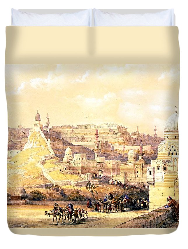 Cairo Duvet Cover featuring the photograph The Citadel Of Cairo Residence Of Mehemit Ali by Munir Alawi
