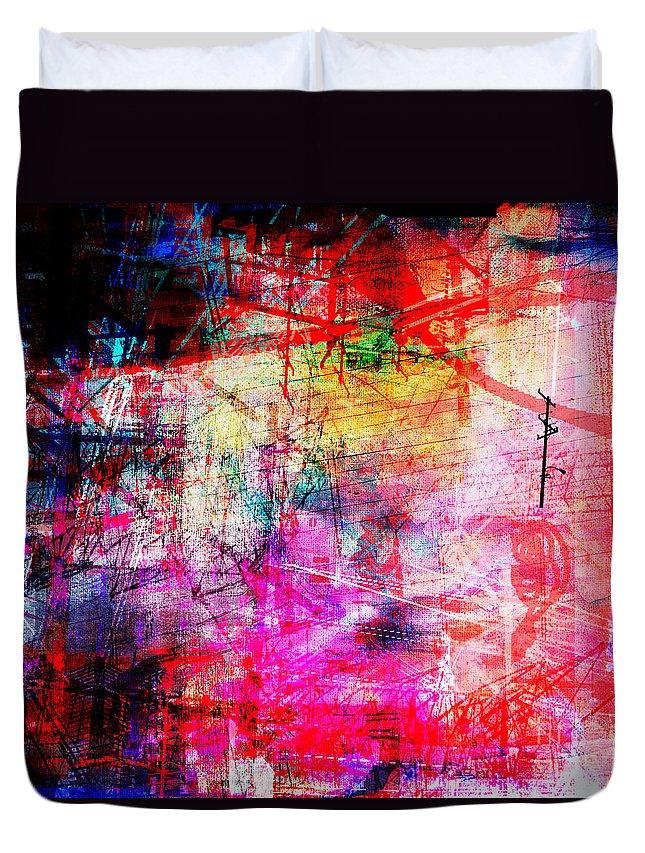 Brandon Lynch Duvet Cover featuring the digital art The City 11 by Brandon Lynch