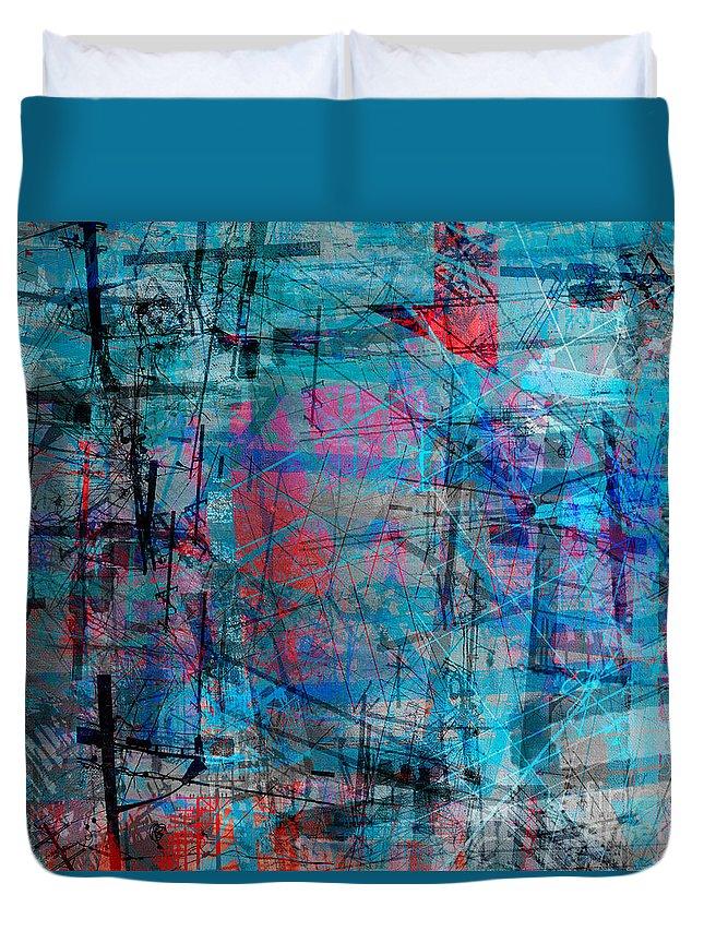 Brandon Lynch Duvet Cover featuring the digital art The City 15 by Brandon Lynch
