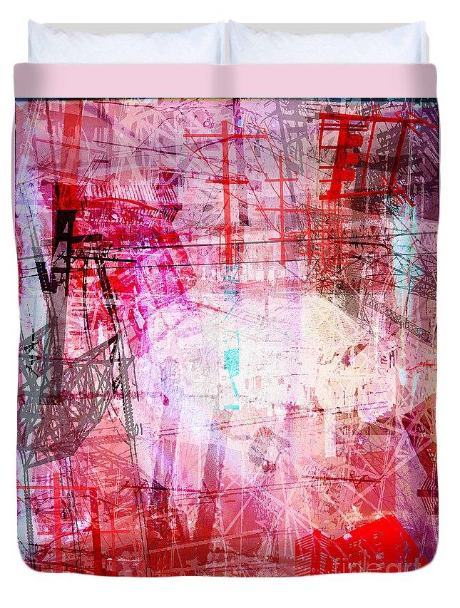 Brandon Lynch Duvet Cover featuring the digital art The City 18 by Brandon Lynch