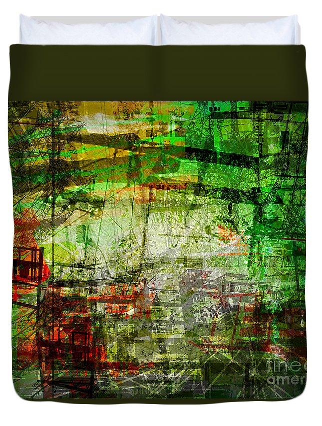 Brandon Lynch Duvet Cover featuring the digital art The City 19 by Brandon Lynch
