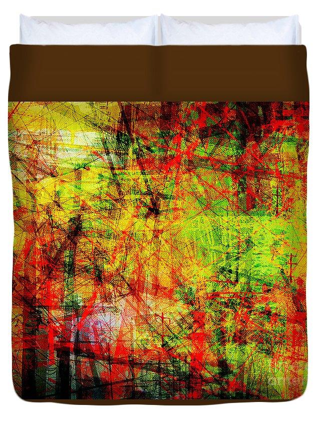 Brandon Lynch Duvet Cover featuring the digital art The City 20 by Brandon Lynch