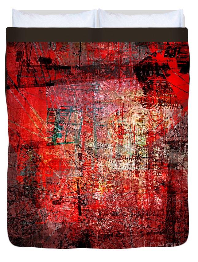 Brandon Lynch Duvet Cover featuring the digital art The City 24a by Brandon Lynch