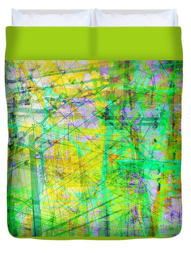 Brandon Lynch Duvet Cover featuring the digital art The City 27 by Brandon Lynch