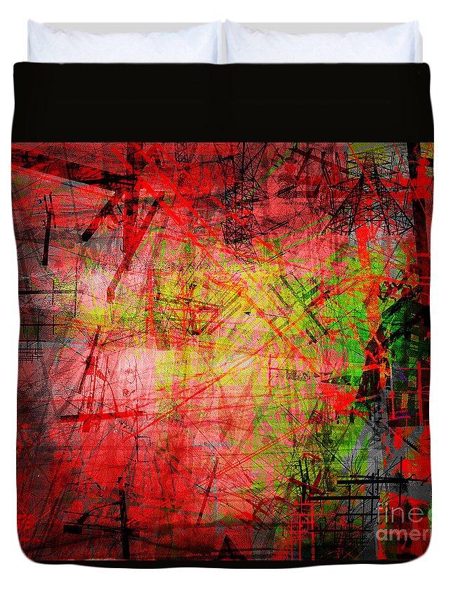 Brandon Lynch Duvet Cover featuring the digital art The City 32 by Brandon Lynch