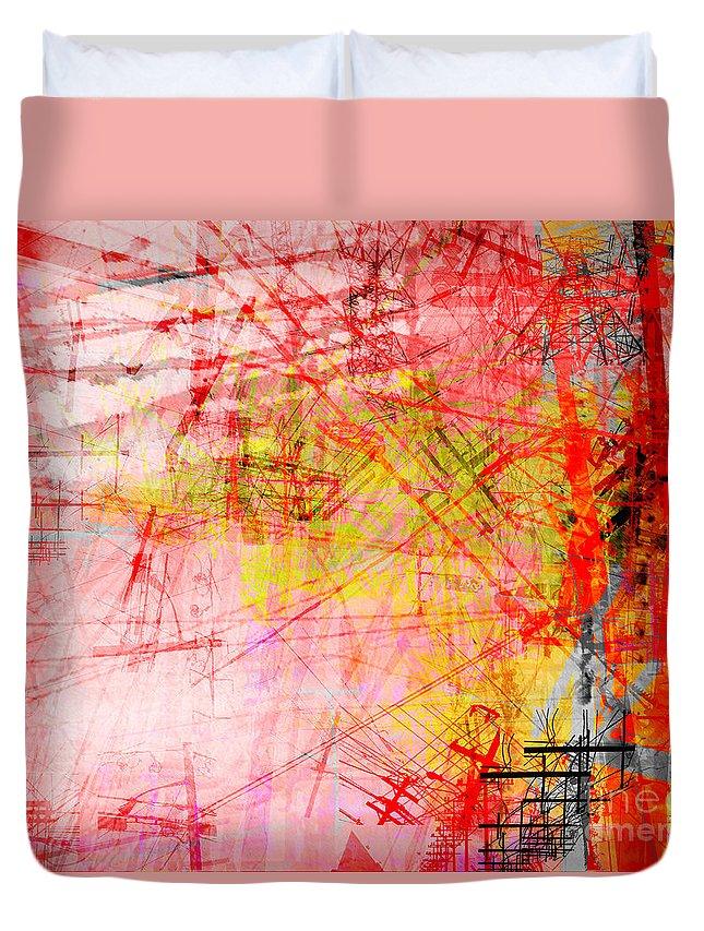 Brandon Lynch Duvet Cover featuring the digital art The City 33 by Brandon Lynch