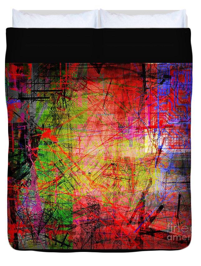 Brandon Lynch Duvet Cover featuring the digital art The City 35 by Brandon Lynch
