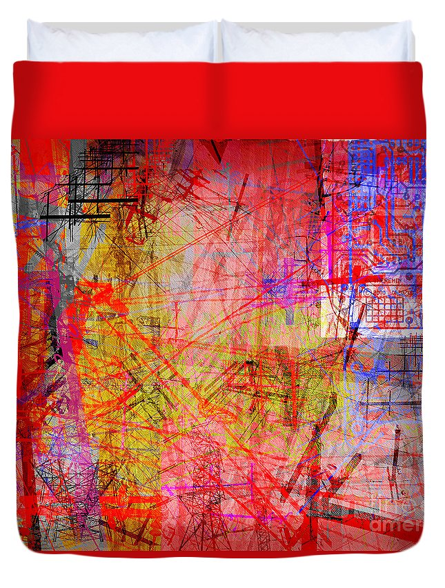 Brandon Lynch Duvet Cover featuring the digital art The City 35a by Brandon Lynch