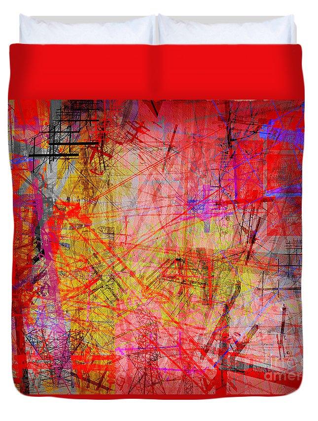 Brandon Lynch Duvet Cover featuring the digital art The City 35b by Brandon Lynch