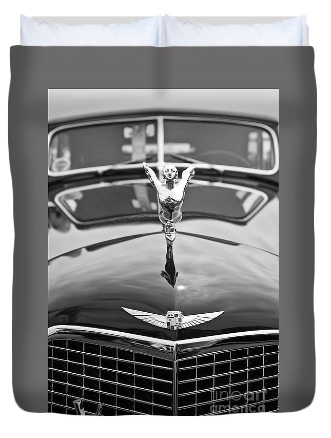 Concours D'elegance Duvet Cover featuring the photograph The Classic Cadillac Car At The Concours D Elegance. by Jamie Pham