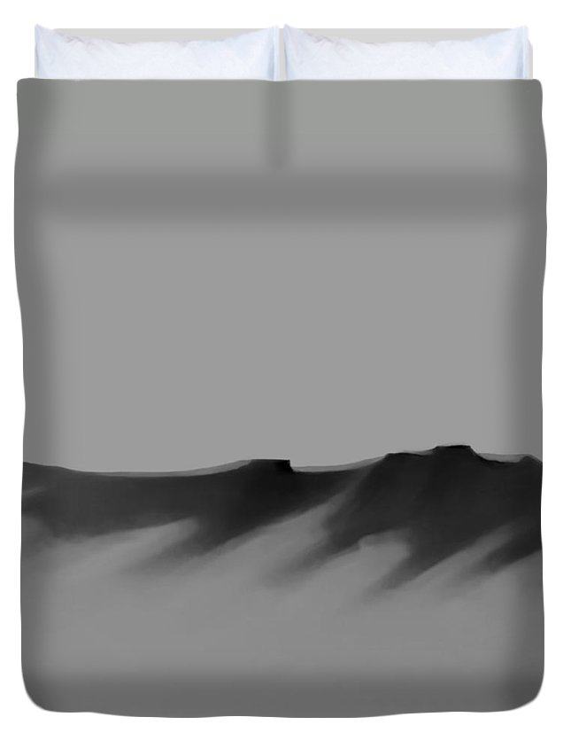 Fineartamerica.com Duvet Cover featuring the painting The Cliffs  Number 11 by Diane Strain