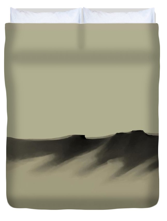 Duvet Cover featuring the painting The Cliffs  Number 6 by Diane Strain