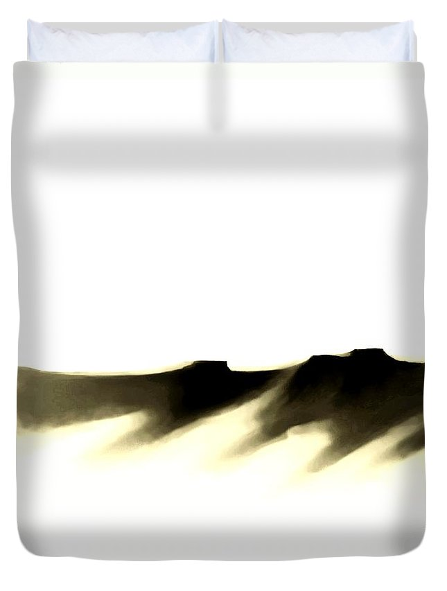 Duvet Cover featuring the painting The Cliffs  Number 7 by Diane Strain