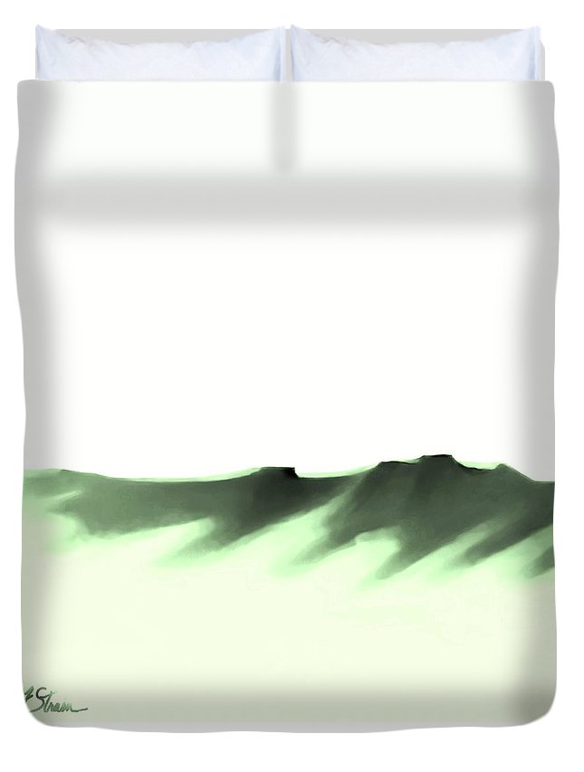 Duvet Cover featuring the painting The Cliffs  Number 8 by Diane Strain