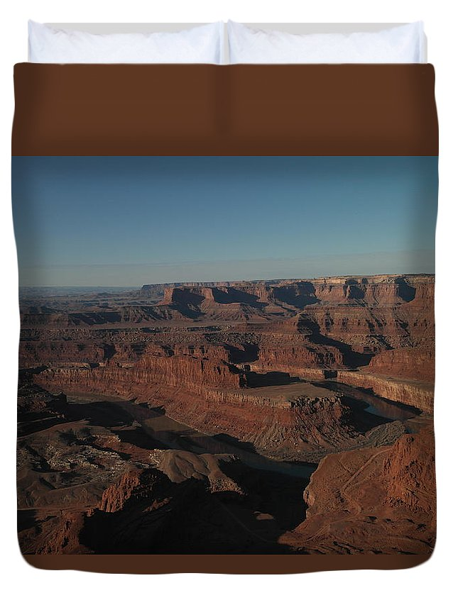Rivers Duvet Cover featuring the photograph The Colorado River At Dead Horse State Park by Jeff Swan