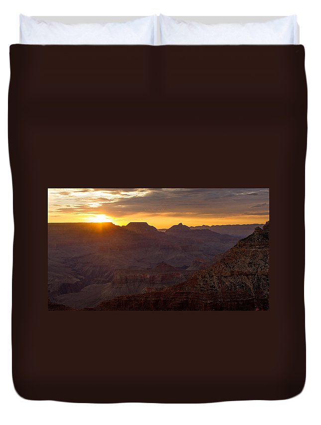 Grand Canyon Duvet Cover featuring the photograph The Colors Of Nature by Kathleen Odenthal