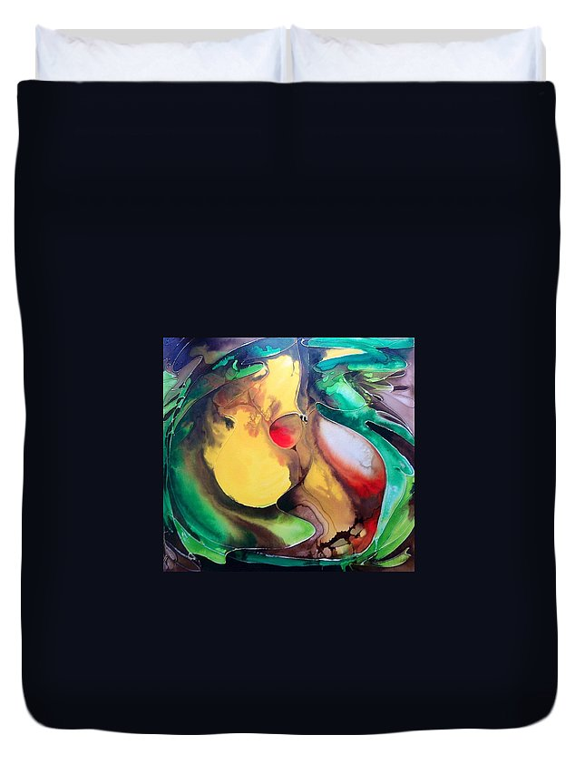 Core Duvet Cover featuring the painting The Core by Pat Purdy