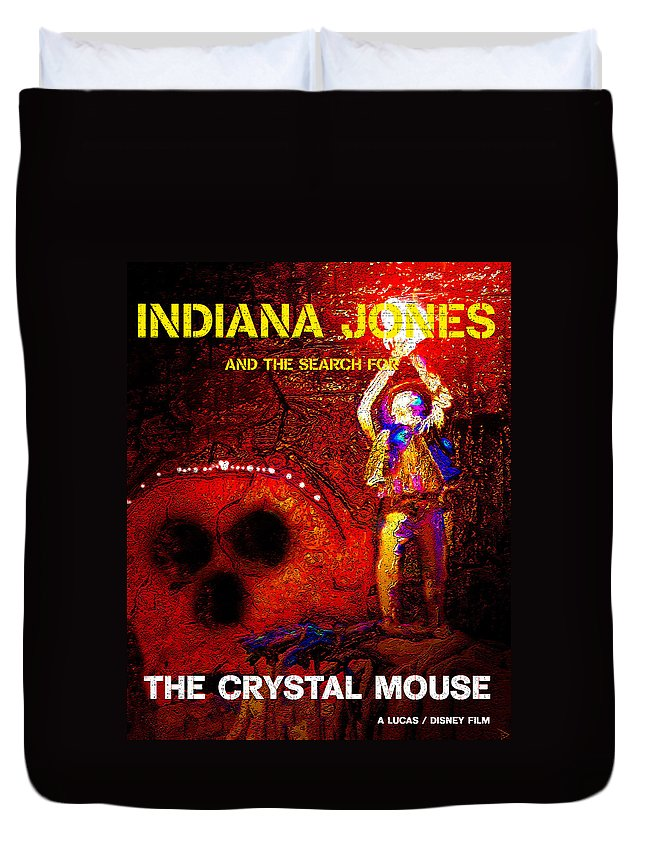 Indiana Jones Duvet Cover featuring the painting The Crystal Mouse by David Lee Thompson