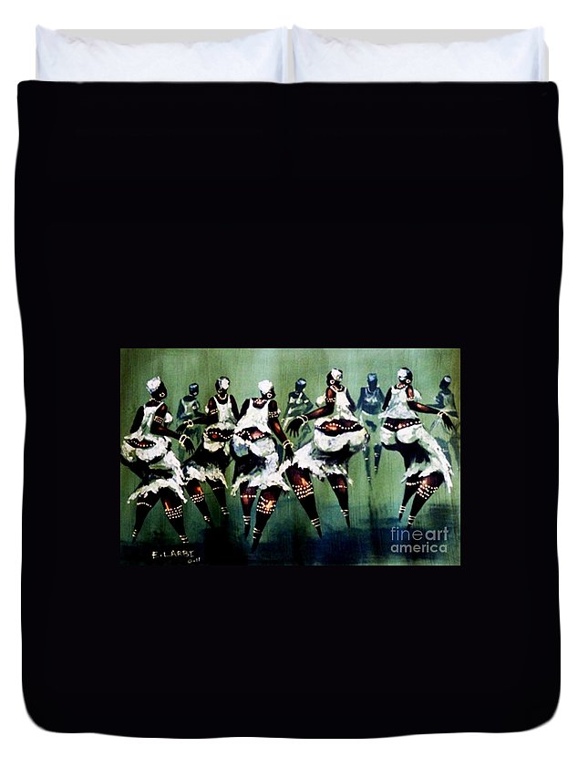 African Duvet Cover featuring the photograph The Dance by E Larbi