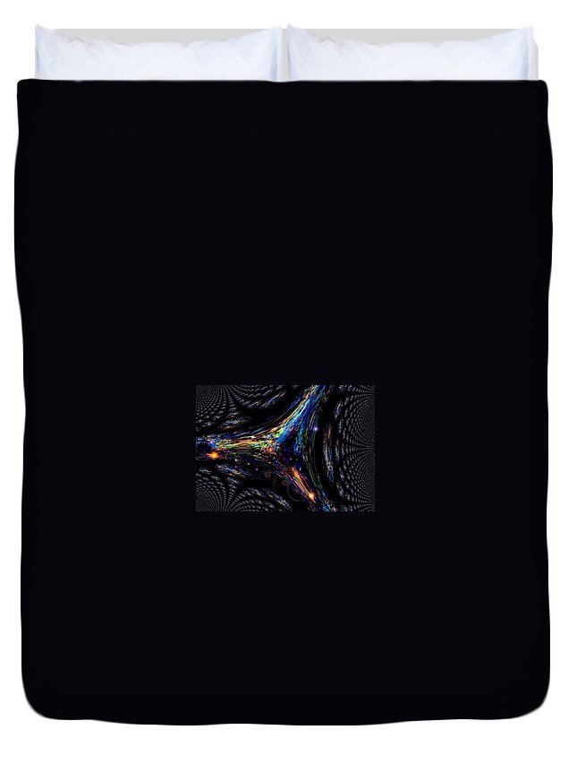 Dark Side Prints Duvet Cover featuring the painting The Dark Three by Nikki Keep