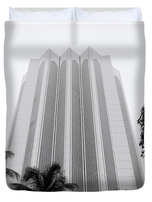 Asia Duvet Cover featuring the photograph The Dayabumi Kompleks by Shaun Higson