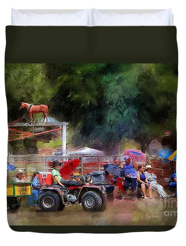 Equine Fine Art Duvet Cover featuring the photograph The Diehards by Annette Coady