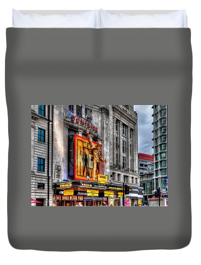 Tim Stanley Duvet Cover featuring the photograph The Dominion Theatre by Tim Stanley