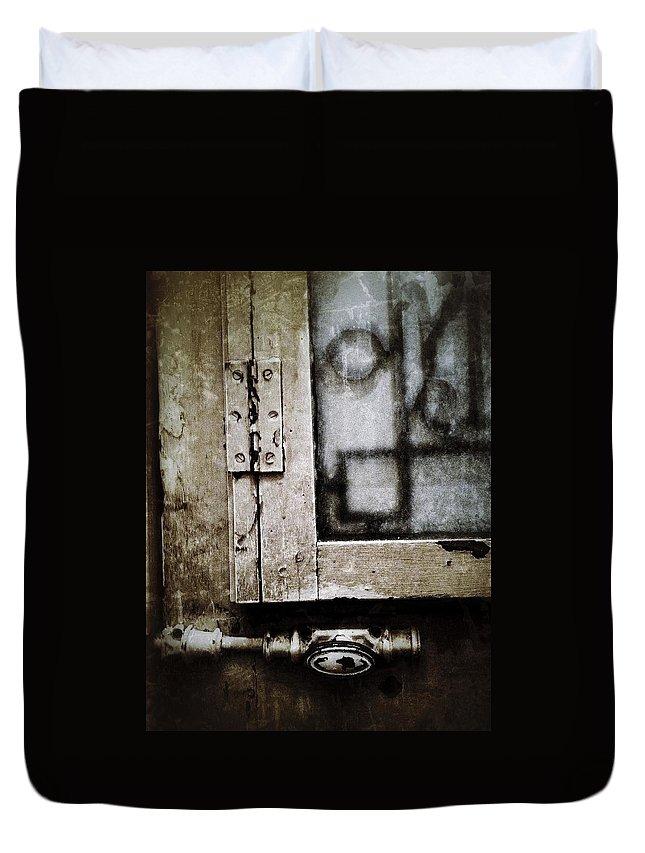 Door Duvet Cover featuring the photograph The Door Of Belcourt by Natasha Marco
