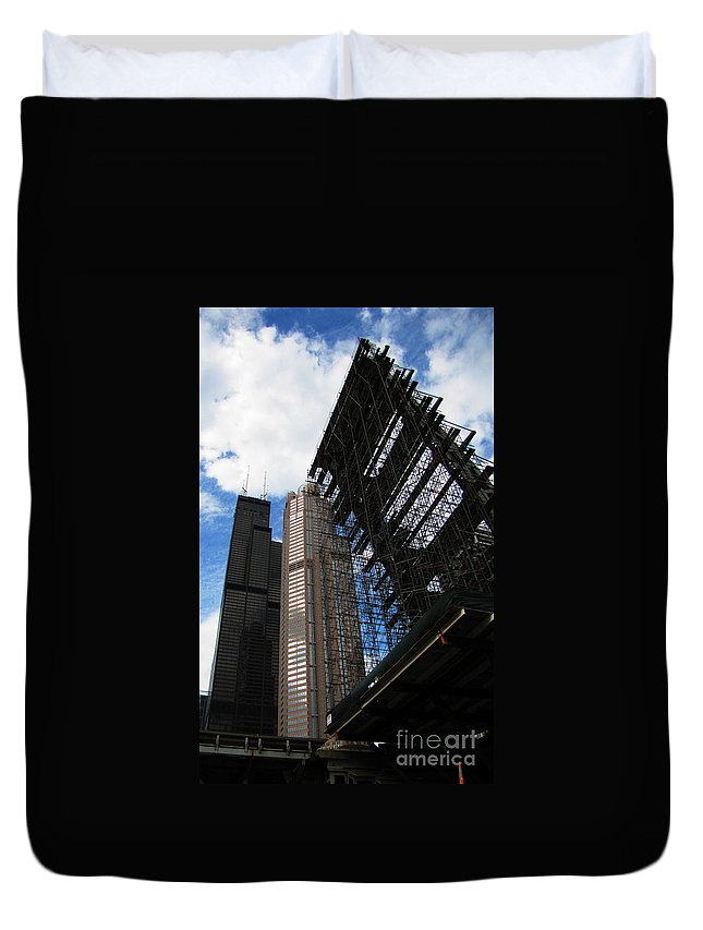 Drawbridge Duvet Cover featuring the photograph The Drawbridge Is Up by Ron Tackett
