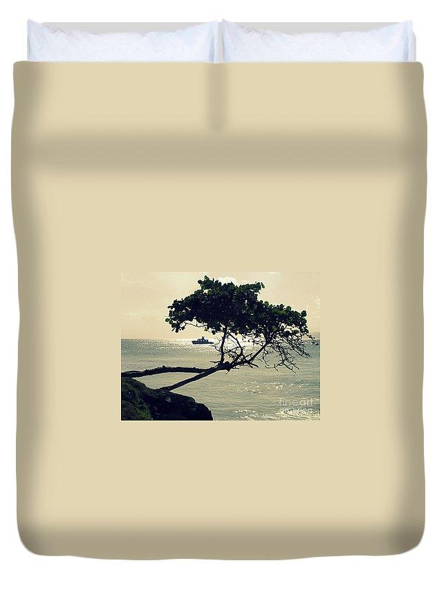 Shore Duvet Cover featuring the photograph The Dream Still Alive by Irina Davis