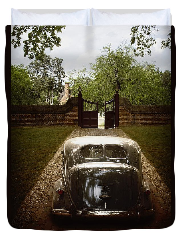 Drive Duvet Cover featuring the photograph The Drive In by Margie Hurwich