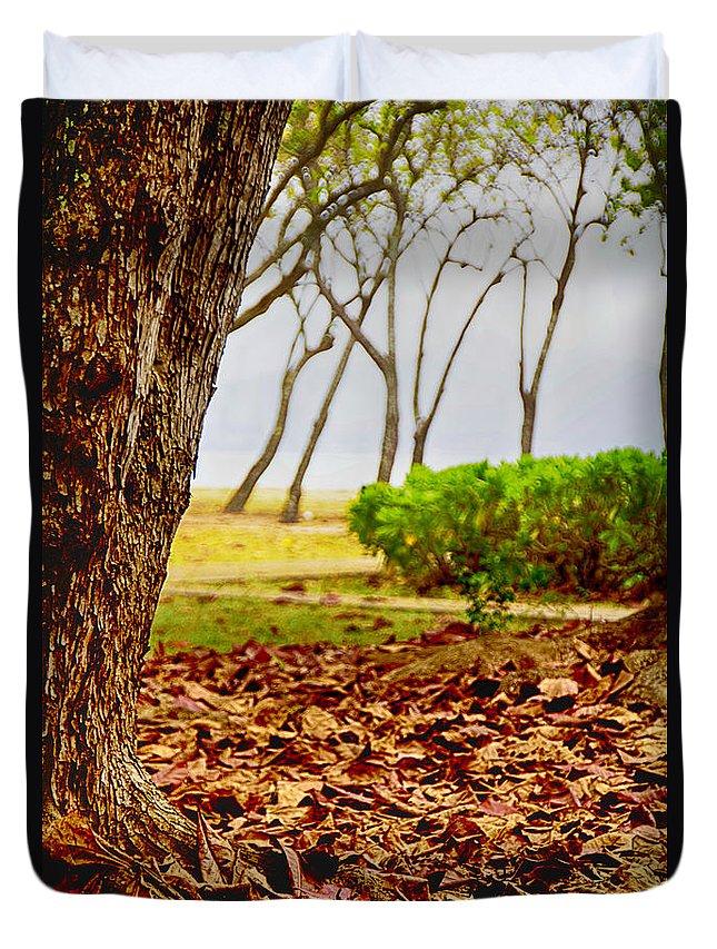 Autumn Duvet Cover featuring the photograph The Dry Season by Douglas Barnard