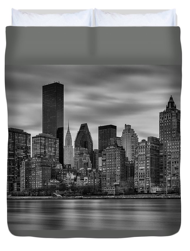 Chrysler Duvet Cover featuring the photograph The East Side by Rick Berk