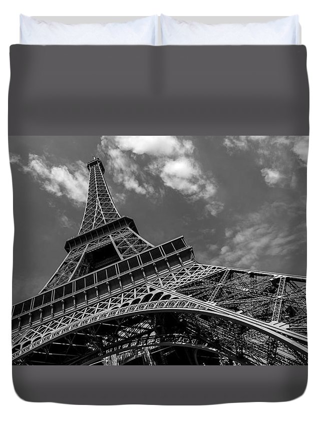 France Duvet Cover featuring the photograph The Eiffel Tower by Ayhan Altun