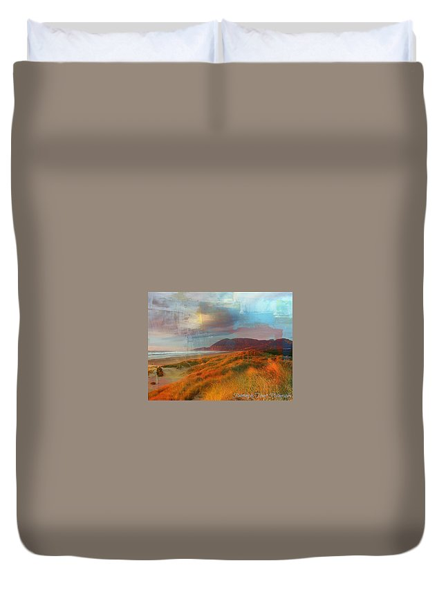 Nature Duvet Cover featuring the photograph The Elk Trail by Deahn   Benware