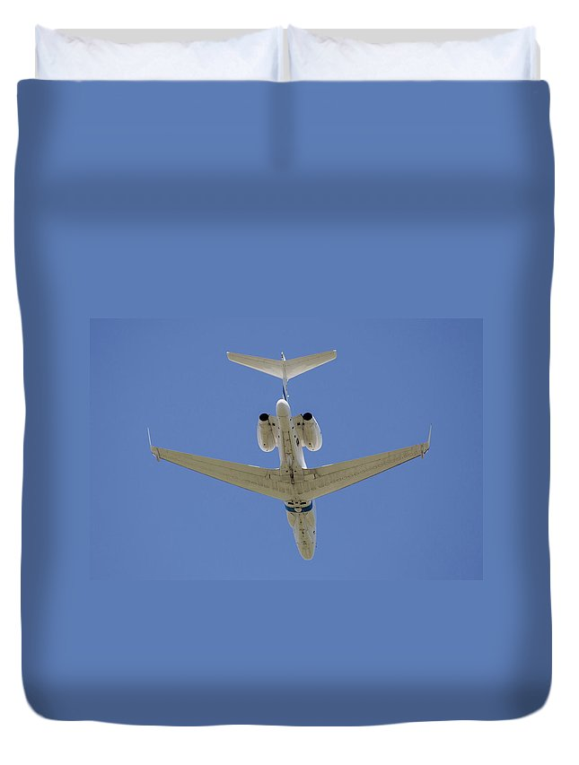 Greece Duvet Cover featuring the photograph The Elusive Israeli Air Force G550 Aew by Timm Ziegenthaler