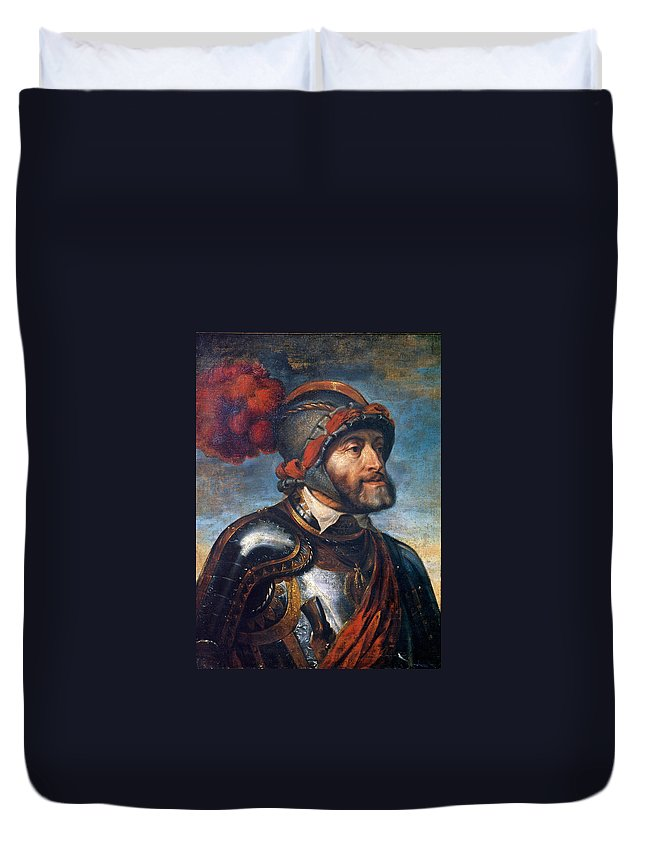 Peter Paul Rubens Duvet Cover featuring the painting The Emperor Charles V by Peter Paul Rubens