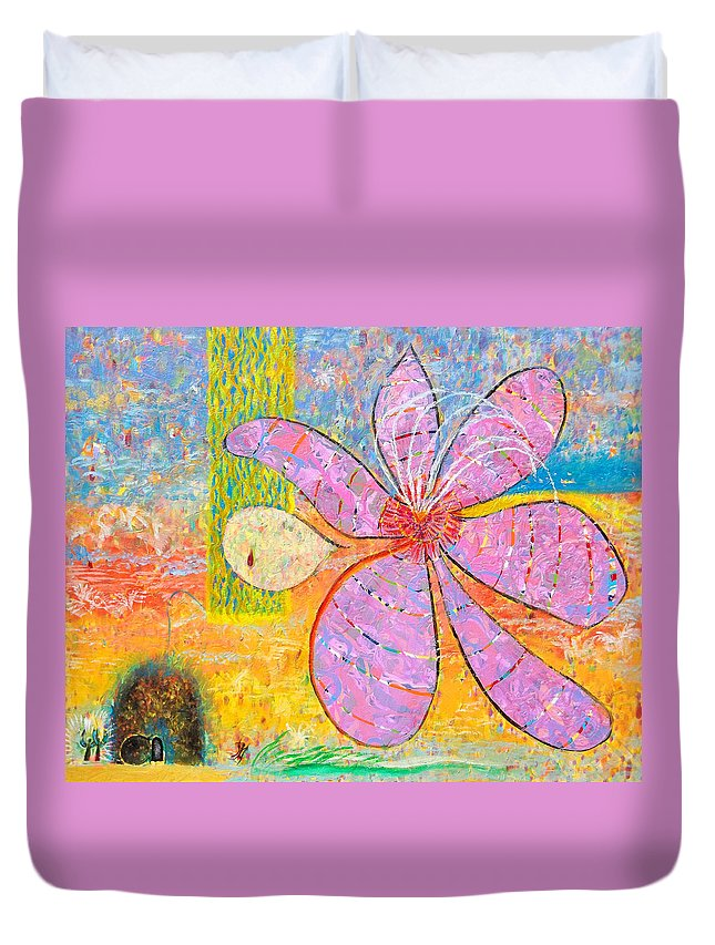 Christian Duvet Cover featuring the painting The Empty Tomb by Anne Cameron Cutri