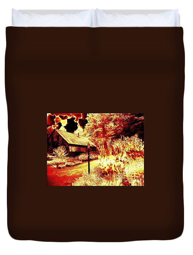 Special Effects Duvet Cover featuring the photograph When The World Burns by Paul W Faust - Impressions of Light
