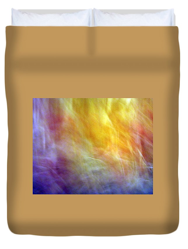 Escape Duvet Cover featuring the photograph The Escape From Heaven by Munir Alawi