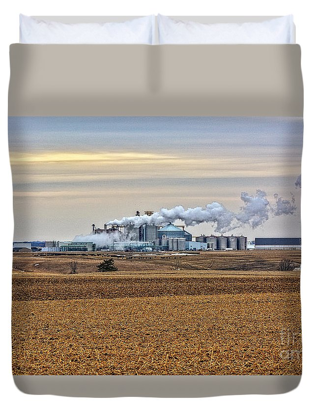 South Dakota Duvet Cover featuring the photograph The Ethanol Plant by M Dale