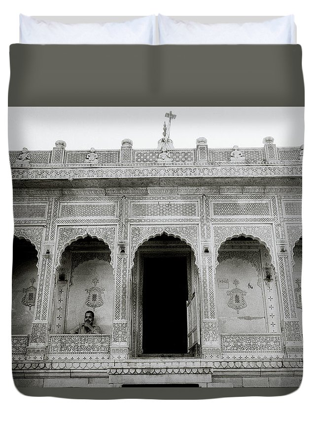 Religion Duvet Cover featuring the photograph The Ethereal Temple by Shaun Higson