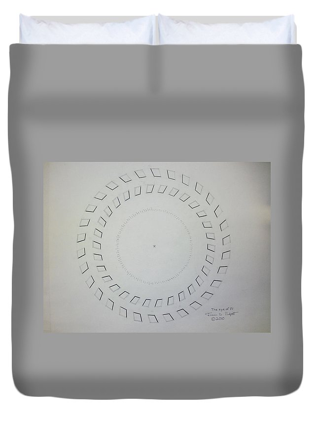 Pi Duvet Cover featuring the drawing The Eye Of Pi by Jason Padgett