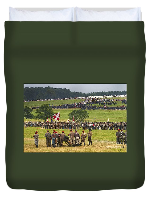 Civil War Duvet Cover featuring the photograph The Face-off by Paul W Faust - Impressions of Light