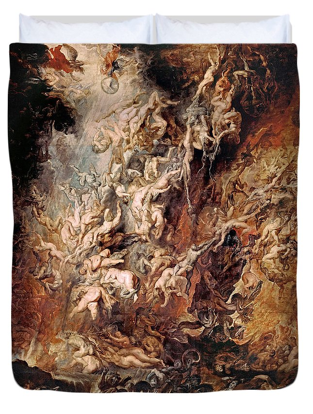 Peter Paul Rubens Duvet Cover featuring the painting The Fall Of The Damned by Peter Paul Rubens